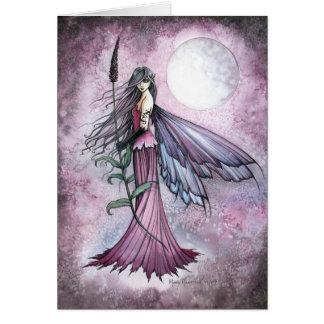Lavender Moon Mystical Fantasy Fairy Art Greeting Card