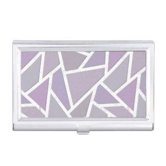 Lavender mosaic pattern business card case