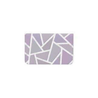 Lavender mosaic pattern business card holder