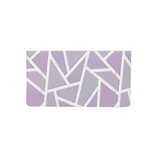Lavender mosaic pattern checkbook cover