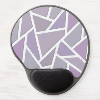 Lavender mosaic pattern gel mouse pad