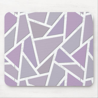 Lavender mosaic pattern mouse pad