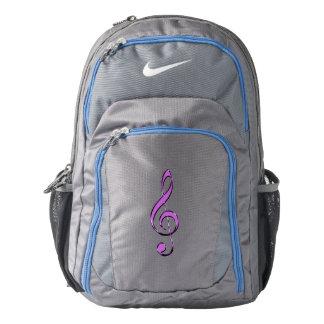 Lavender Music Clef Backpack