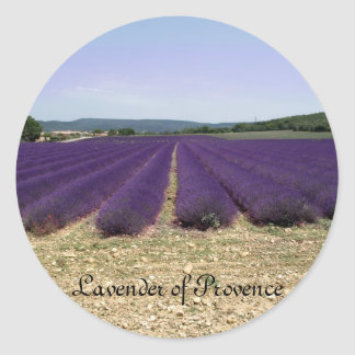 Lavender of Provence Classic Round Sticker