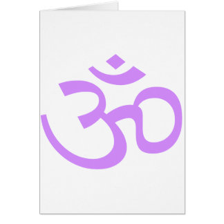 Lavender Om or Aum ॐ.png Card