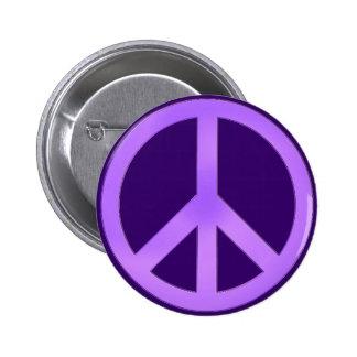 Lavender on Dark Purple Peace Sign Button