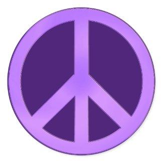 Lavender on Dark Purple Peace Sign sticker