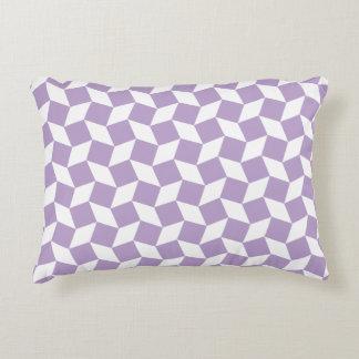 Lavender Op Art Pattern Accent Pillow