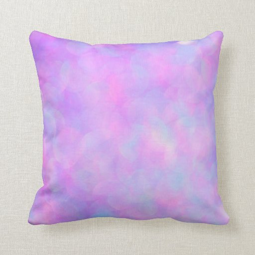 Blue And Lavender Throw Pillows : Lavender Opal Bokeh Pink Blue Gemstone Throw Pillow Zazzle