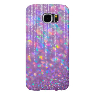 Lavender Opal Bokeh Pink Gemstone Pearl Strands Samsung Galaxy S6 Cases