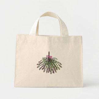 Lavender or thyme girly gift mini tote bag