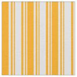 [ Thumbnail: Lavender & Orange Colored Stripes/Lines Pattern Fabric ]