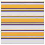 [ Thumbnail: Lavender, Orange & Midnight Blue Colored Pattern Fabric ]