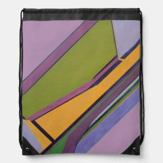 Lavender & Orange Nylon Backpack