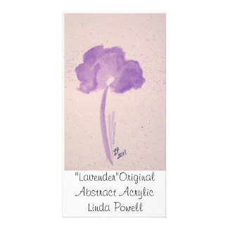 """Lavender""Original Abstract Acrylic Linda Powell Card"