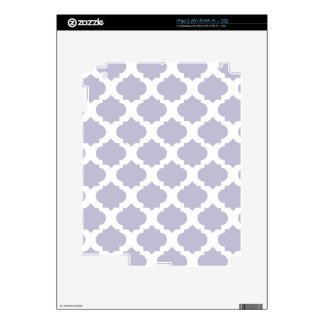 Lavender Ornate Pattern Decal For iPad 2