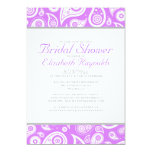 Lavender Paisley Bridal Shower Invitations Announcements