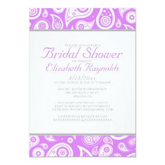 Lavender Paisley Bridal Shower Invitations