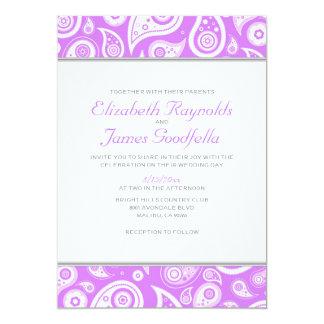 Lavender Paisley Wedding Invitations