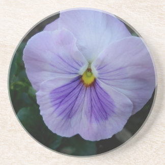 Lavender Pansy Flower Coaster