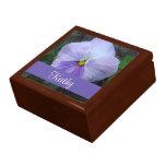 Lavender Pansy Flower Gift Box
