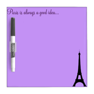Lavender Paris Dry Erase Board With Pen