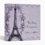 Lavender Paris Grunge Wedding Organizer Binder