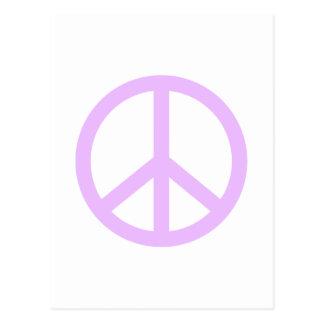 Lavender Peace Sign Postcard