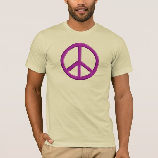 Lavender Peace Sign T-Shirt
