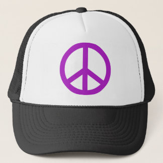 Lavender Peace Sign Trucker Hat
