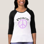 Lavender Peace & Word T-Shirt
