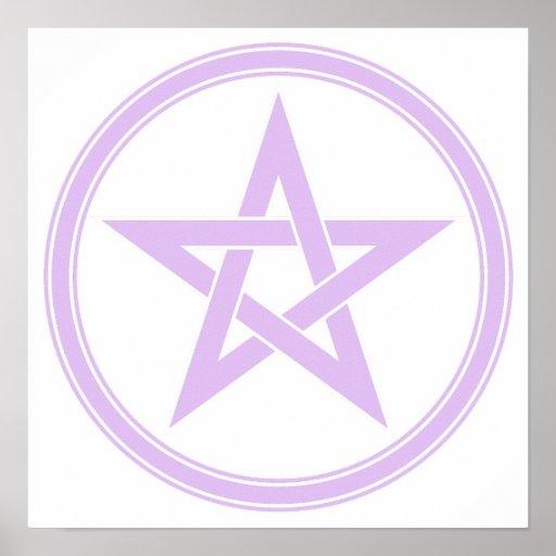 Lavender Pentacle Pentagram Poster