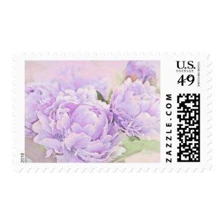Lavender Peonies Postage Stamps
