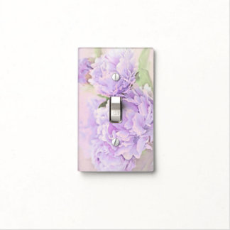 Lavender Peonies Switch Plate Cover