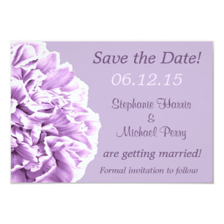 Lavender Peony Save the Date Wedding Card