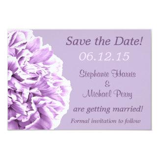 "Lavender Peony Save the Date Wedding 3.5"" X 5"" Invitation Card"