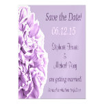 Lavender Peony Save the Date Wedding Magnetic Card