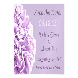 Lavender Peony Save the Date Wedding Magnetic Invitations