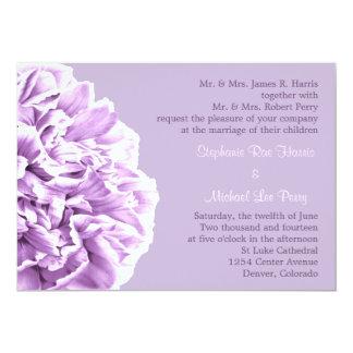 Lavender Peony Wedding Invitation