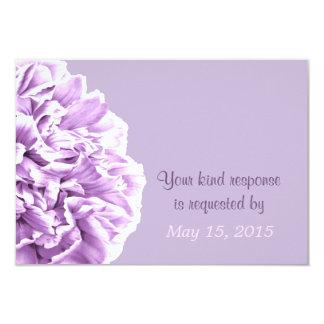 Lavender Peony Wedding RSVP Card