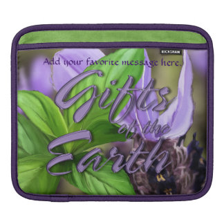 Lavender & Peppermint -- Gifts of the Earth Sleeve For iPads