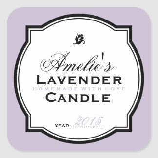 LAVENDER | PERSONALIZED SOAP & CANDLE STICKER