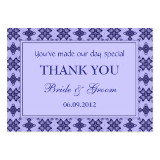 Lavender Personalized Wedding Favor Gift Tags Business Card