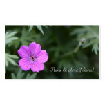 Lavender petal and bud business card templates
