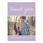 Lavender Photo Wedding Thank You Cards