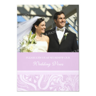 Lavender Photo Wedding Vow Renewal Invitations