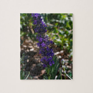 Lavender photo with honeybee jigsaw puzzle
