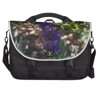 Lavender photo with honeybee bag for laptop