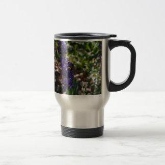 Lavender photo with honeybee travel mug