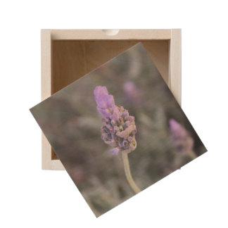 Lavender Photograph Soft and Pretty Wooden Keepsake Box